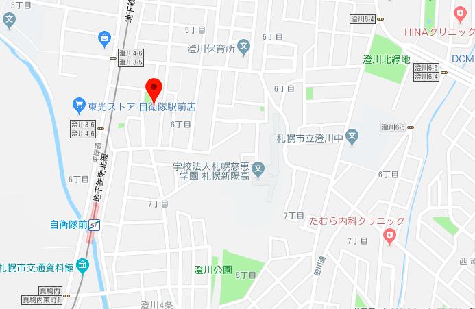 澄川四条整骨院のマップ